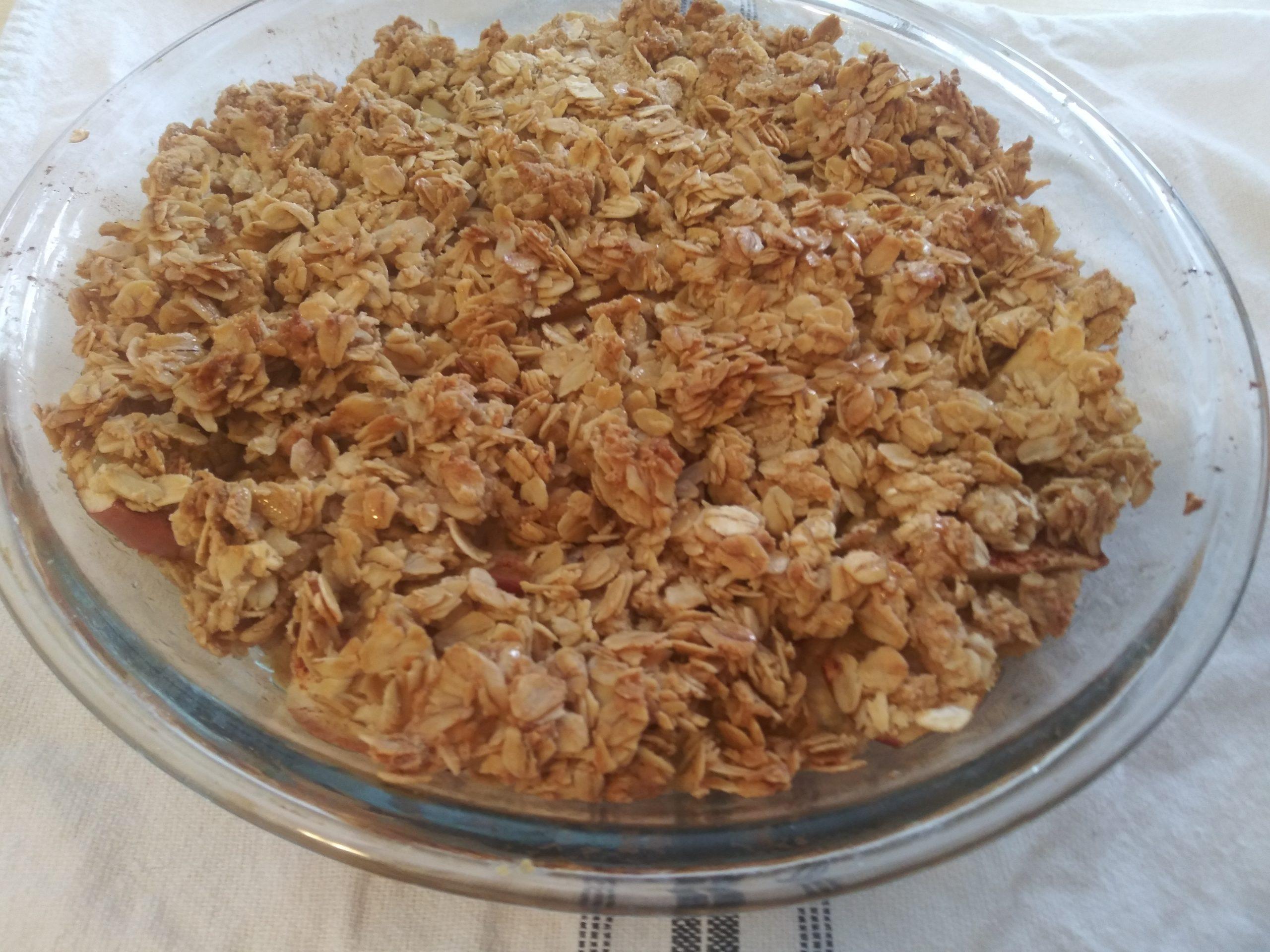 Homemade Maple Apple Crisp